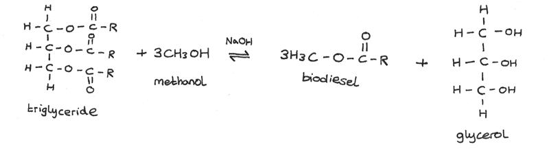 Transesterification reaction.