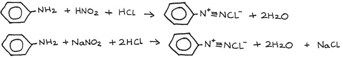 Diazotisation reaction